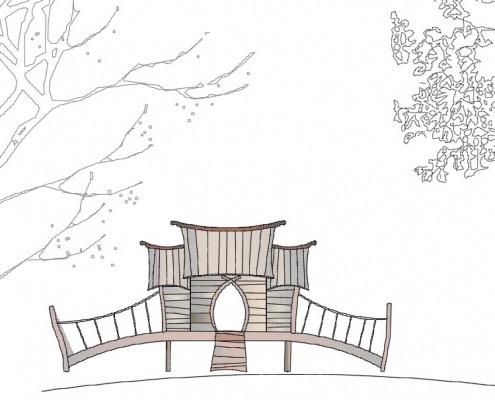 Tegning af legehus - vær med til at designe legepladsen selv